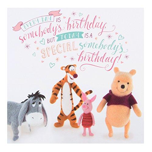 Disney Winnie Puuh verjaardagskaart Winnie -