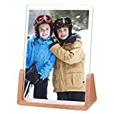 E-accexpert 5x7 Inch Picture Frame Solid Wood Acrylic Highly Definition Glass Photo Frame for Shelf Photo Display Decor Wall Mounting Table (5x7 Vertical)