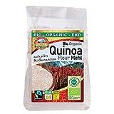 Harina de Quinua de comercio justo orgánica 1,8kg ecológica, Fairtrade, sin gluten, de quinoa real biológica, sin OMG...