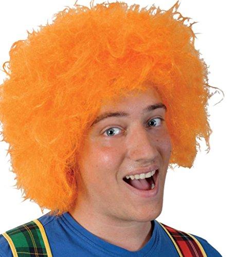 KarnevalsTeufel Perücke Struwwelpeter Orange Märchen-Perücke Kunsthaar-Perücke Falsche Haare