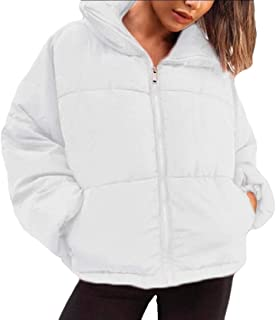 Women's Winter Loose Fit Zipper Short Bread Thicken Puffer Down Coat