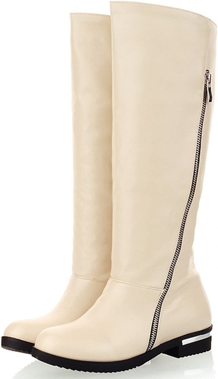 AIWEIYi Womens Knee High Riding Boot Black