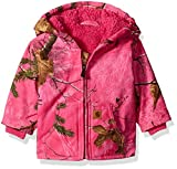 Carhartt Baby Girls' Sherpa Lined Camo Redwood Jacket, Realtree Xtra Pink, 6 Months