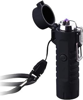 Tenfel 懐中電灯 2イン1 ライター USB 充電 防風 電子ライター IP67防水 アウトドア 点火・応急照明 電灯 プレゼント に最適