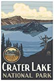Crater Lake National Park Giclee Art Print Poster from Original Travel Artwork by Artist Paul A. Lanquist 12' x 18'