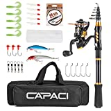 Best Compact Fishing Rod And Reels - CAPACI Portable Telescopic Fishing Rod and Reel Combos Review