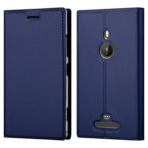 Cadorabo Custodia Libro per Nokia Lumia 925 in Classy Blu Scuro – con Vani di Carte, Funzione Stand e Chiusura Magnetica – Portafoglio Cover Case Wallet Book Etui Protezione