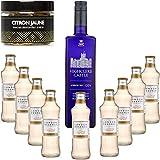 Gintonic - Gin Highclere Castillo 43,5 ° + 9London Esencia 'Ginger Ale '- (70cl + 9 20cl *) + Pot 20 rebanadas amarillo limón seca.