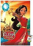 Disney Elena of Avalor - Póster de pared con alfileres