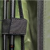 Rutentasche Rod Case Angelkoffer mit 3 Fächern, Verschiedene Längen wählbar - Oliv - 125 cm - 4