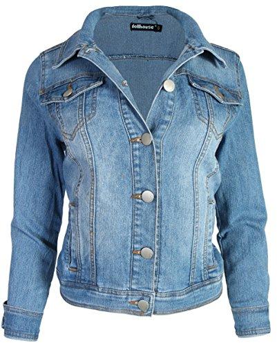 dollhouse Women's Basic Denim Jean Jacket, Size Large, Medium