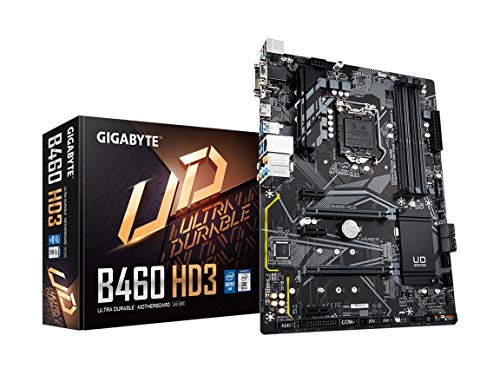 Gigabyte B460 HD3 (LGA1200/Intel/B460/ATX/Dual M.2/SATA 6Gb/s/USB 3.2 Gen 1/DDR4/Motherboard)