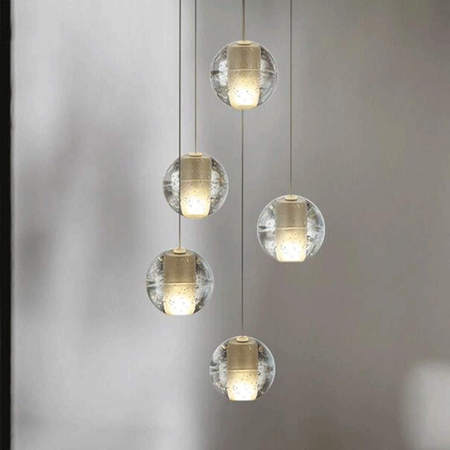 Simplemodern lounge Bar kreative Restaurant der LED-Beleuchtung Magic crystal ball Kronleuchter Meteorschauer Reihe von hochwertigen Geschenk kristall Lichtquelle (Farbe  1 PCS)