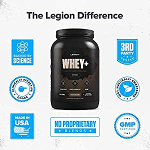 Legion Whey+ Chocolate Whey Isolate Protein Powder from Grass Fed Cows - Low Carb, Low Calorie, Non-GMO, Lactose Free, Gluten Free, Sugar Free. Great for Weight Loss & Bodybuilding, 30 Servings. #5