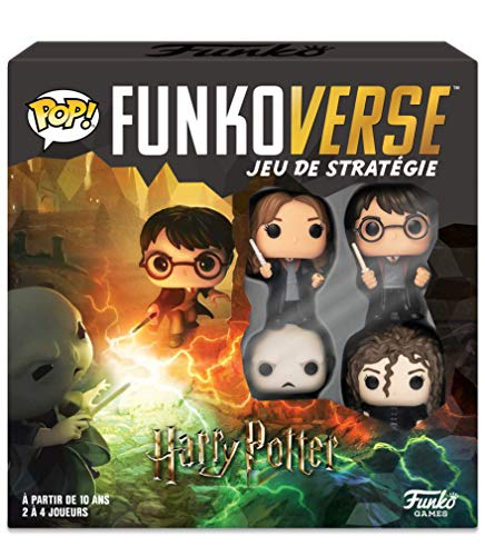 Funko- Black Mag Funkoverse (4 unidades) English Board Game, 43476, multicolor, Version francesa