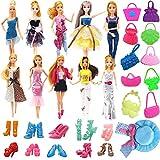Hey ~ Yo Ropa de muñeca para Barbie de 31 piezas, incluye 10 juegos de ropa de ocio + 10 pares de zapatos + 10 bolsos + 1 sombrero.