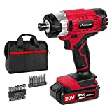 20V MAX Cordless 1/4' Hex Impact Driver Kit, Variable Speed, Max Torque 1590 in-lbs, with 14Pcs Sockets, 10Pcs Driver Bits and Tool Bag, Avid Power
