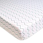 American-Baby-Company-2-Pack-Printed-100-Cotton-Jersey-Knit-Fitted-Crib-Sheet-for-Standard-Crib-and-Toddler-Mattresses-Pink-StarsZigzag-for-Girls