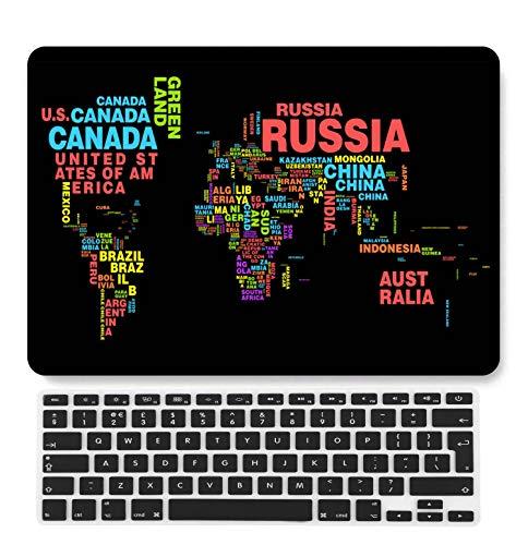 GangdaoCase Plástico Ultra Delgado Ligero Estuche RígidoDiseño Cortado Compatible 2020 Nuevo MacBook Air 13 Pulgadas con Touch ID con UK Cubierta Teclado A2179/A2337 M1 (Geografía A 24)