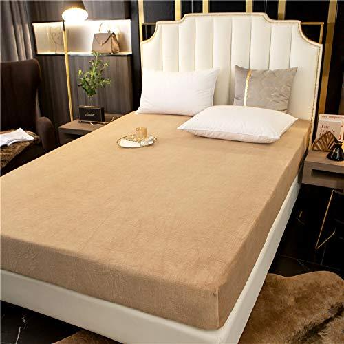 Xiaomizi Sábanas, cama doble, colchón super suave anti-pliegue, 150X200+25cm(funda de colchón+2 fundas de almohada)