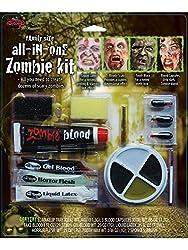 Ofertas Tienda de maquillaje: Este kit de Zombie Maquillaje tiene todo lo que necesitas para crear un clásico o aspecto de zombie. único incluye (4) bandeja de color maquillaje, sangre teatral, horror FLESH, sangre Gel, látex líquido, diente negro, cápsulas de sangre, esponjas (2...