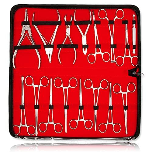 INOKI - Kit de alicates Piercing de 16 Piezas