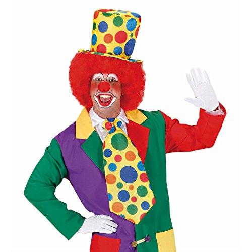 Amakando Haut-de-Forme Cirque Chapeau Clown à Pois Multicolores comédie Show Couvre-Chef pointillé de Fou farceur arlequin fête Enfants déguisement Carnaval