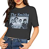 fffdaww The Smiths Sexy Exposed Navel Women T-Shirt Bare Midriff Crop Top T Shirts Black