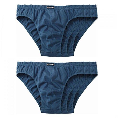 6 er Pack Ceceba Slip Brief Unterhosen Herren blau navy Größen L - 8XL, Grösse:XL - 7 - 54;Farbe:blau