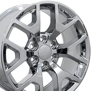 OE Wheels 22 Inch Fits Chevy Silverado Tahoe GMC Sierra Yukon Cadillac Escalade CV92 Chrome 22x9 Rim Hollander 5656