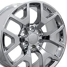 OE Wheels 22 Inch Fits Chevy Silverado Tahoe GMC Sierra Yukon Cadillac Escalade CV92 Chrome 22x9 Rim Hollander 5656 - coolthings.us