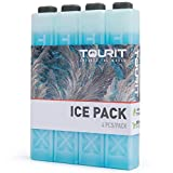 TOURIT Ice Packs for Coolers Reusable Long Lasting Freezer Packs for Lunch Bags/Boxes, Cooler Backpack, Camping, Beach,...