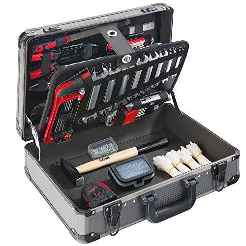 600 teiliger Arebos Werkzeugkoffer/Schraubendreher, Schraubenschlüssel, Klemmen, Bits