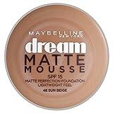 Maybelline Dream Matte Mousse 48 Beige ensoleillé - base de maquillaje (Crema, Cazuela, Beige ensoleillé, Piel normal, Piel grasosa, Piel sensible, Mate, Italia)