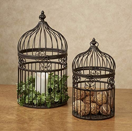 Metal Decorative Birdcages Bronze Set of Two product image