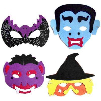 Masque d'Halloween pour enfants en mousse EVA-Lot de 4