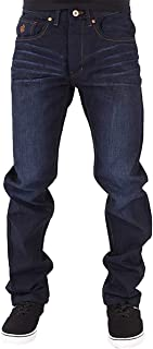 Rocawear Mens Boys Double R Star Relaxed Fit Hip Hop Jeans Dkblu