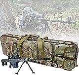 ZWJABYY Maletin Arma Larga,Rifle Airsoft Bolsa TáCtica Funda para Arma 85/100/120Cm Acolchado con Correa De Hombro Bolsa De Transporte Vaina para Caza Disparando,CP-85cm
