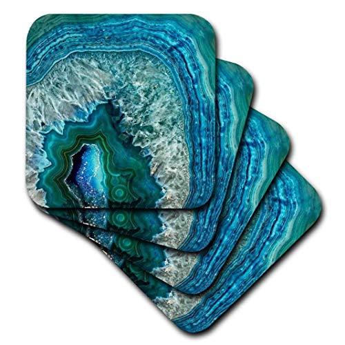 Zestaw 8 podstawek na napoje drewno chłonna podstawka do napojów luksusowa niebieski niebieski marmur agat kamień mineralny blat meble ochrona dekoracje do domu kuchni baru parapetówki prezenty 8 sztuk