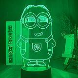 3D Nachtlicht Led Nachtlicht Farbe Ändernde Berührungssensor Nachtlicht Für Kinder Kinder Schlafzimmer Dekor Little Minion 3d Lampe Nachttisch