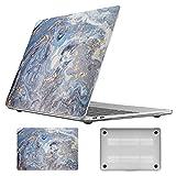 Vozehui Funda compatible con MacBook Air 13 pulgadas 2020-2018 Release A1932 A2179 A2337 M1 Carcasa de ordenador portátil con carcasa rígida ultrafina y lisa para Mac Air 13 Serie de mármol