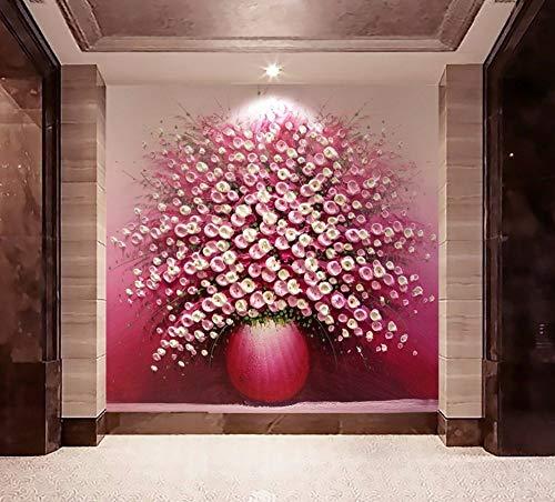 BHXIAOBAOZI Papel Tapiz Personalizado 3D Grandes Paisajes Abstractos Flores Rosadas Moderna Decoración...