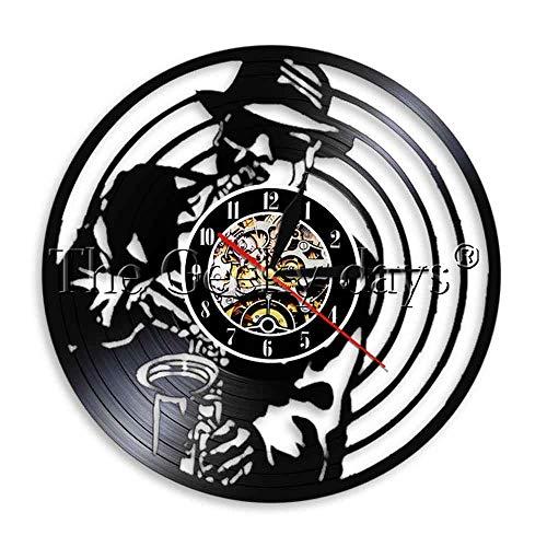 1 stück jazz instrument silhouette led nachtlicht saxophon schallplatte wanduhr musik wand künstler dekoration saxophon spieler geschenk