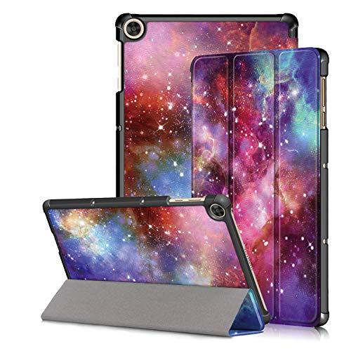 Kemocy Funda para Huawei MatePad T10 / T10s 2020,Flip Cover en Cuero PU con Soporte Carcasa para Huawei MatePad T10s 10.1' AGS3-L09 AGS3-W09 / T10 9.7' AGR-L09 AGR-W09 Tablet,Galaxia