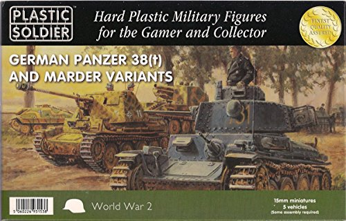 German Panzer 38(t) and Marder Variants - 15mm Plastic Kit