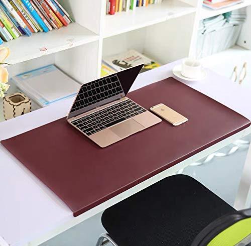 Schreibtischunterlage mit Kantenschutz,70x35cm,Wasserdichte rutschfeste sanft Luxus Leder Schreibunterlagen für Tastatur, PC, Laptop Computertastatur