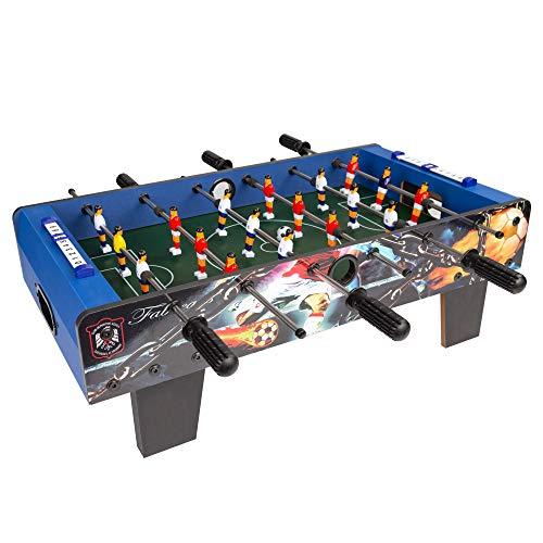 COLORBABY - Futbolín madera, azul, mesa cbgames