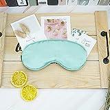 Silk Sleeping Mask, Natural Silk Eye Mask, Silk Sleep Mask for Women and Man, Girls Sleep Mask, Soft and Comfortable, Fully Adjustable (Emerald Green)