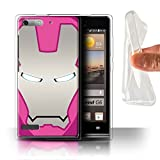 Hülle Für Huawei Ascend G6 Superheld-Helm Rosa/Silber