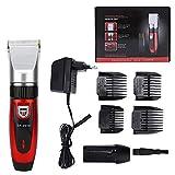 Cortadora de cabello eléctrica, recortadora de cabello recargable de bajo ruido para el hogar, cortadora de cabello de...
